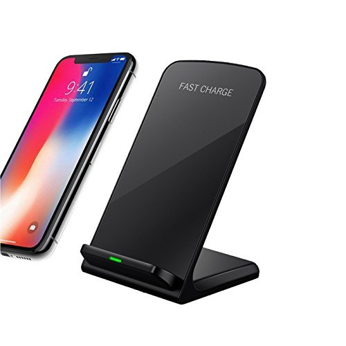 Ohmu Smart Phone Wireless Charger Fast Charger Stand for iPhone X 8 8 Plus Samsung Galaxy Note 8 S8 Plus S7 Edge S6 Edge Note 5
