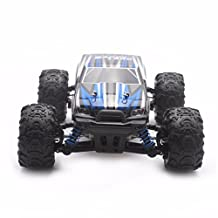 Boddenly 2.4Gh Scale 1:18 RC Racing Cars RTR 4 WD High Speed Waterproof Electronics Monster Remote Control RC Truck Helicopter for Kids Adults (blue)