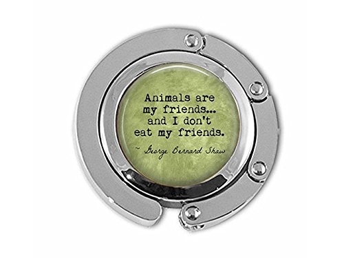 stap VEGETARIAN George Bernard Shaw Quote Animals are my friends. - Vegan - Herbivore - Vegetarian Hanger - Vegan Hanger