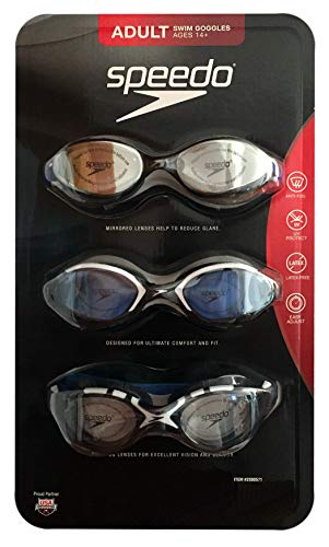Speedo 3 Pack Adult Swimming Goggles 2019 ()