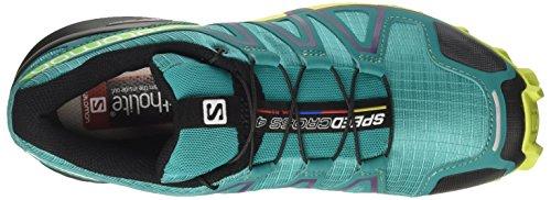 Salomon Damen Speedcross 4 Traillaufschuhe Grün (Deep Peacock Blue/lime Punch./grape)