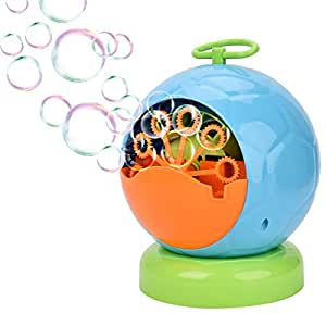 Bubble Machine for Kids Showin Automatic Bubble Blower Durable Bubble Maker (Blue 500 Colorful Bubbles per Minute Use 4 AA Battery Operated (not include) )