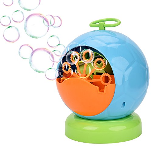 Showin Bubble Machine, Automatic Bubble Blower Durable Bubble Maker Over 500 Colorful Bubble Per Minute For Kids,Christmas,Parties,Wedding Use 4AA Battery Operated (not included)