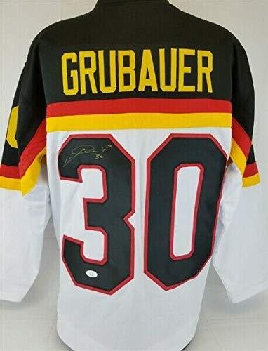 (Philipp Grubauer Autographed Signed Memorabilia Team Germany Hockey Jersey - JSA Authentic)