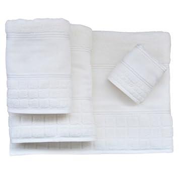 Bertha hogar - Toalla para bordar 500 gr. hampton(30x50 cm), color blanco: Amazon.es: Hogar