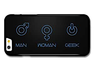 Video Game Man Woman Geek Funny Illustration Black and Blue case for iPhone 6 6S