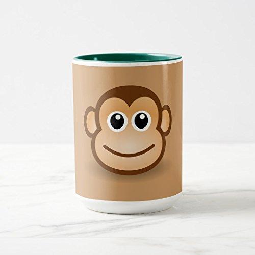 Zazzle 76-free-cute-cartoon-monkey-clipart-illustration Travel Mug, Hunter Green Combo Mug 15 oz