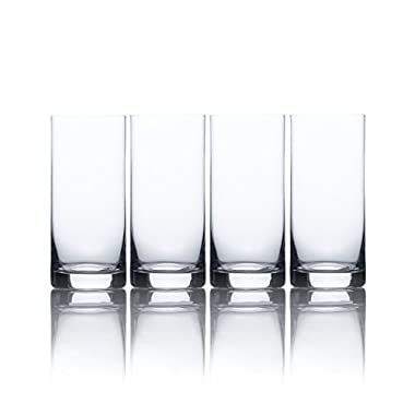 Mikasa Laura High Ball Glass, 15.5-Ounce, Set of 4