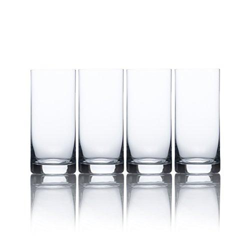 Mikasa Laura High Ball Glass, 15.5-Ounce, Set of 4 (Glass Crystal Set Highball)
