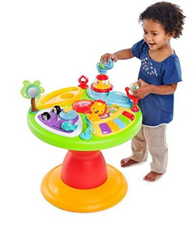 41dsRBOKceL - Bright Starts 3-in-1 Around We Go-Activity Station, Baby Walker And Baby Toys