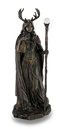 Resin Statues Elen Of The Ways Bronze Finish Statue Pagan Goddess 4 X 10.5 X 3.5 Inches Bronze Model # WU76522A4 -  Unicorn Studios