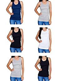 Emprella Tank Tops for Women, Ribbed Racerback Tank Top Assorted Colors -12 Pack