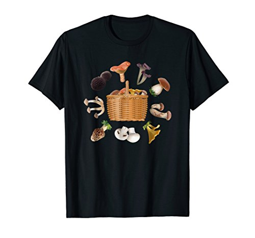 All Kinds Mushrooms Collage Food Vegan Produce T Shirt -