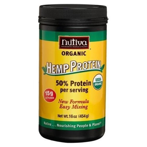 Nutiva Organic Hemp Protein 50% Protein Per Serving, 16-Ounce Canister ( Multi-Pack)