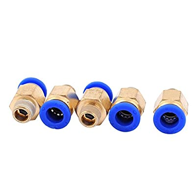 5pcs 1/8BSP Male to 8mm OD Push in Quick Release Air Pneumatic Fitting