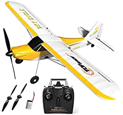 """Top Race 4 Channel Rc Plane for Adults Remote Control Airplane Ready to Fly TR-C385 21"""" Inch Wing Span with working throttle, rudder, elevator and aileron - and steerable tail wheel for easy ground control, New Propeller Saver Technology, to ..."""