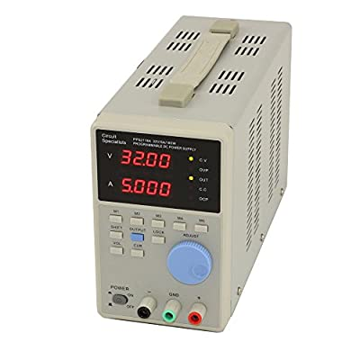 32 Volt DC 5.0 Amp Programmable Linear Power Supply, Circuit Specialists PPS2116A, Low Ripple, High Resolution: 10mV, 1mA, Selectable auto-Serial or Parallel Function, High-Stability, Low Drift