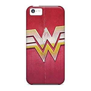 High-end cell phone case Snap On Hard Cases Covers Popular iphone 5 / 5s - wonder woman sign desktop high definition