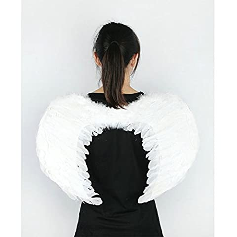Angel Feather Wings New Kids Fairy Nativity Adult Costume Fancy Dress Up Costume White Feather for Party, Leisure Time (Kitchen Fairy Nativity)