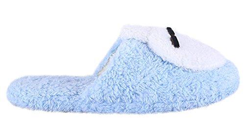 Comfortabele Fleece Pluche Antislip Indoor Slipper Konijn Blauw