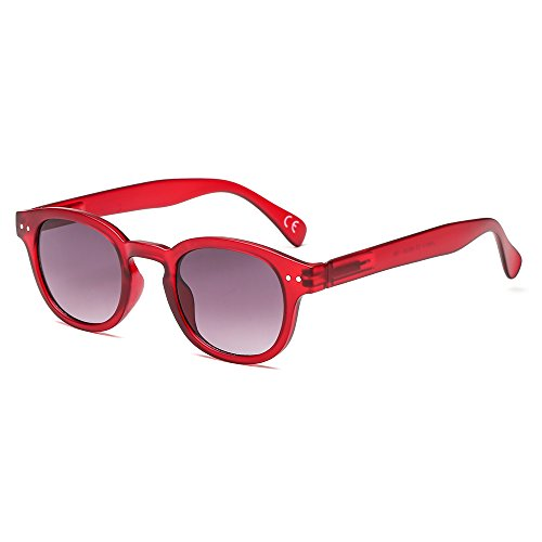 SUERTREE Fashion Summer Women Metal Sunglass Retro Round Shade Rimless Eyeglasses JH9014 (Red Frame, ()