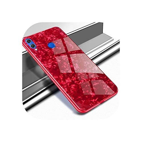 Hunters Softcover - Candy Color Conch Shell Phone Case for Honor 8X Case for Huawei p20 p 20 lite pro Honer 8c x8 max Fashion Soft Cover Luxury Case,red,Honor 8X