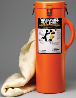 Water-Jel Technologies W499672-04 6' x 8' Canister Heat Shield (4 Canister Per Case), English, 15.34 fl. oz., Plastic, 1 x 96 x 72