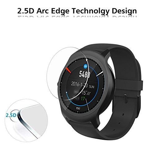 iVoler [4 Unidades] Protector de Pantalla para Ticwatch 2 / Ticwatch E2 Smartwatch, Cristal Vidrio Templado Premium