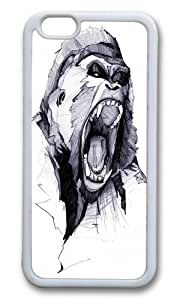 Apple Iphone 6 Case,WENJORS Adorable Wild Rage Soft Case Protective Shell Cell Phone Cover For Apple Iphone 6 (4.7 Inch) - TPU White hjbrhga1544