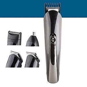 kemeii Rechargeable Kemei Km-600 Multi-functional 11 in 1 Grooming Kit Shaver Trimmer for Men (Black)