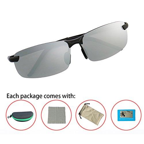 y Doradoamarillo Ultraligero Sol Polarizadas Marco Gafas de Hombre UV400 Irrompible Metal Para DAWILS Negro de 1 U6a8qxwFn
