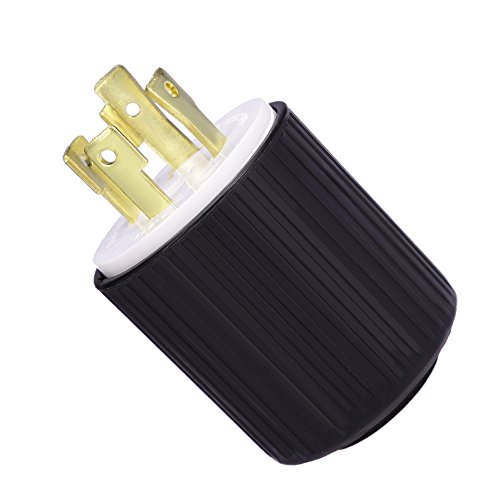 Rated Interconnect (QUIOSS L14-30P power cord plug UL Listed Rated for 30 Amps, 125/250V 7500W generators 4-Prong)