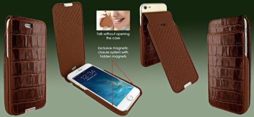 Piel Frama 770 Brown Crocodile UltraSliMagnum Leather Case for Apple iPhone 7 / 8 by Piel Frama (Image #4)
