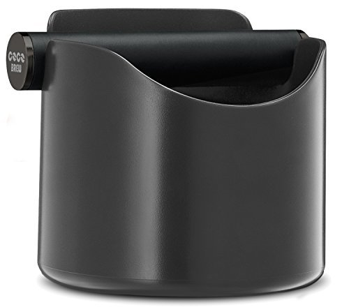 CoCo Brew, Espresso Knock Box - Durable 4.7 Inch, Barista Style Sturdy Shock-Absorbent Knockbox - Dishwasher Safe (Grey)