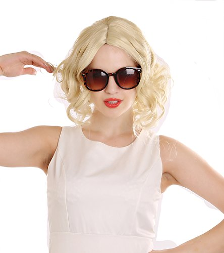 SiYi Short Curly Blonde Wig Wavy Synthetic 1920s Flapper Wigs Heat Resistant Costume Full Wigs for Women
