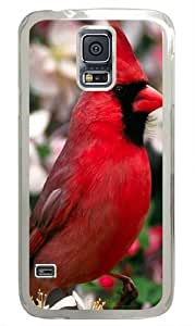 Red Bird Custom Samsung Galaxy S5 Case and Cover - Polycarbonate - Transparent