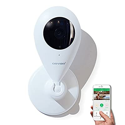 Orvibo Smart Home IP Camera Wireless WIFI Wall Mount Indoor IP Security Surveillance system with Night Vision Two-way Audio Motion Detection SD Card Slot for Baby Pet Garage Monitor with camera