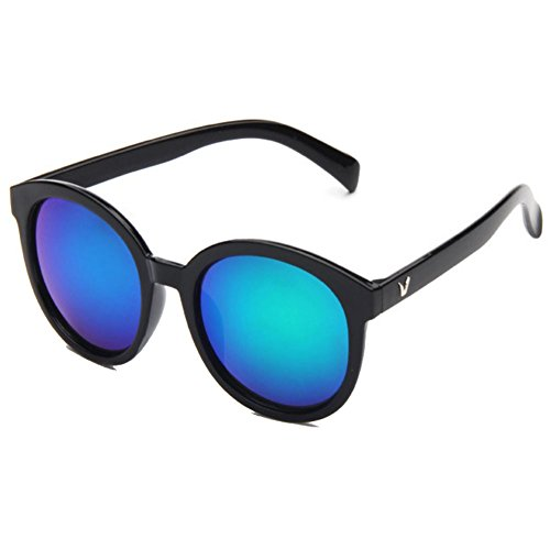 Sinkfish SG50010 Gift Sunglasses for Womens,Fashion - UV400/Black Frames/Blue - Ban Ray Customize