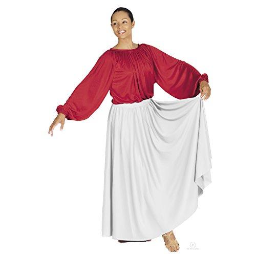 Adult Circle Skirt - Eurotard Adult Lyrical Circle Skirt (13778) -WHITE -OSFA