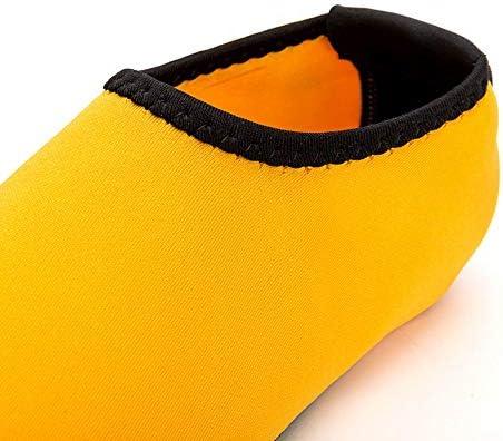 印刷の女性と男性のダイビングソックス速乾性シュノーケリングソックスアダルトビーチ アップストリームシューズイエローUS4.5-US10 ポータブル (色 : Yellow, Size : US9.5)