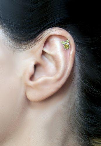 International Connection Piercing d'oreille hélix en forme de poupée vaudou