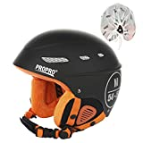 ADSRO Winter Outdoor Adult Ski Helmet Men and Women Lightweight Adjustable Windproof Outdoor Safety Ski Helmet Single Double Ski Protection Snow Helmet Four Color Optional