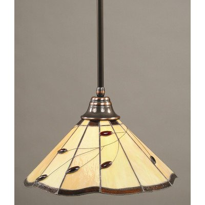 (1 Light Any Stem Pendant Finish: Bronze, Size: 18