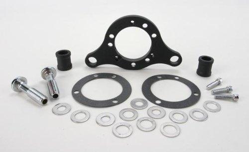 D & M Custom Carb Support Bracket/Breather Kit - Wrinkle Black DM-52WR