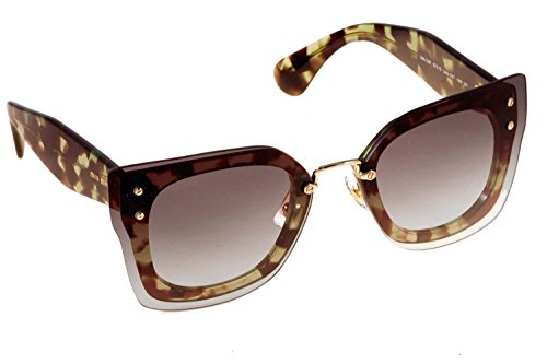 Miu Miu MU04RS UAG0A7 Green Tortoise MU04RS Aviator Sunglasses Lens Category - Miu Miu Sunglasses Aviator