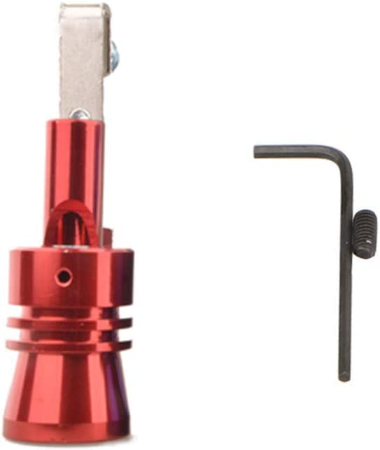 KingWo 1 Set Turbo Whistle+Tool,Exhaust Pipe Oversized Roar Maker Car Auto Exhaust Pipe Loud Whistle Sound Make Turbo Whistle,for Most Cars (L, red)