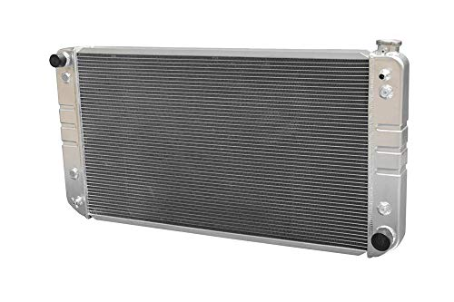 (POLISHED STAMPED 3 ROWS ALUMINUM RADIATOR Fits 1988 1989 1990 1991 1992 1993 1994 1995 1996 1997 1998 1999 2000 Chevy GMC C/K 2500 3500 34
