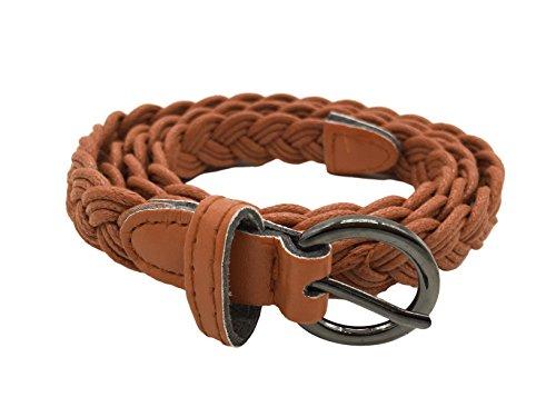 TY belt Women Girls Fashion Basic Woven Hemp Rope Waist Band Waist Belt (camel) (Woven Hemp)