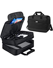 CURMIO Travel Carrying Case Compatible with PS3/PS4 PRO/XBOX 360/XBOX ONE/XBOX ONE X/XBOX SERIES S Game Console and Accessories, Portable Storage Bag Organizer for Game Console, Controller, Headset and Cable,Black