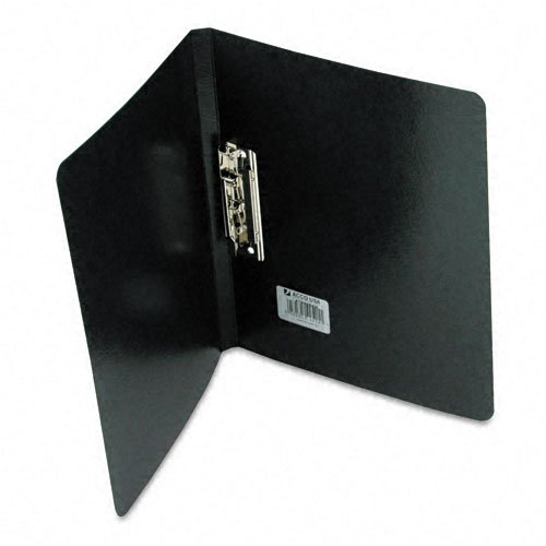 PRESSTEX Grip Punchless Binder With Spring-Action Clamp, 5/8'' Capacity, Black, Sold as 1 Each by ACCO Brands (Image #1)
